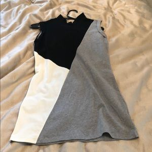 Color block black and grey dress XS